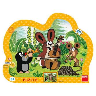 Krtek muzikant - puzzle 25 dílků - Miler Zdeněk