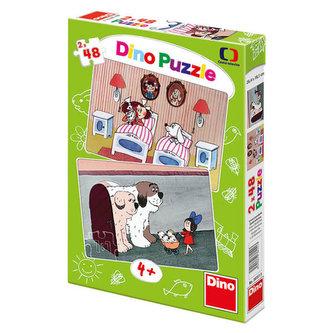 Pohádky s pejsky - Puzzle 2x48