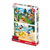 Mickey sportuje - Puzzle 2x66