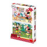 Pracovitá Minnie - Puzzle 2x66