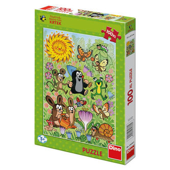 Krtek a jarní den - Puzzle 100 XL dílků - Miler Zdeněk