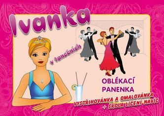 Ivanka v tanečních - oblékací panenka - vystřihovánka a omalovánka + škola líčení navíc