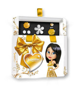 Šperkovnice Briliantina - Gold+ 4 prstýnky, 1 pár náušnic