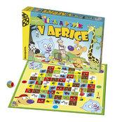 Líza a Pupík v Africe společenská hra v krabici 35x23x4cm