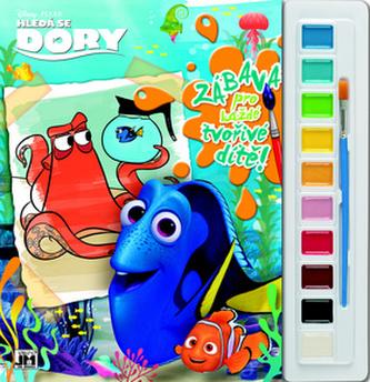 Hledá se Dory - Omalovánky s barvami A4 - neuveden
