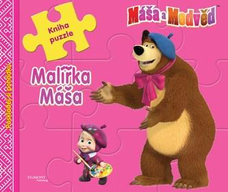 Máša a medvěd - Malířka Máša (kniha s puzzle) - Animaccord