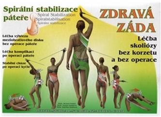Zdravá záda - Cvičební Set, spirální stabilizace páteře (kniha Zdravá záda, CD, cvičební lano)