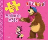 Máša a medveď - Maliarka Máša - Kniha s puzzle