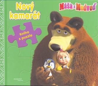 Máša a medveď - Nový kamarát - Kniha s puzzle