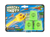 Whacky Shots 9,5cm s doplňky Fireball žlutý na kartě