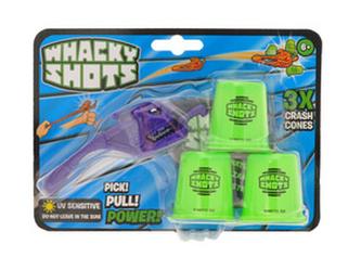 Whacky Shots 9,5cm s doplňky Metal Blast fialový na kartě