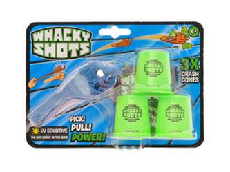 Whacky Shots 9,5cm s doplňky Water Splash tmavě modrý na kartě