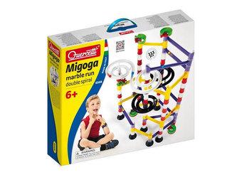MigogaMarble Run Double Spiral - Barevná klučková dráha