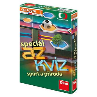 AZ kvíz Sport a příroda společenská hra cestovní v krabici 11x18x3,5cm