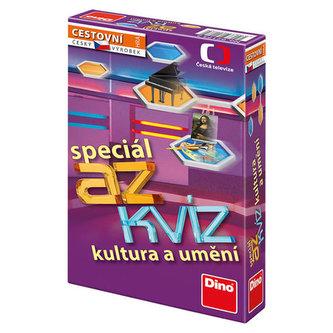 AZ kvíz Kultura a umění společenská hra cestovní v krabici 11x18x3,5cm