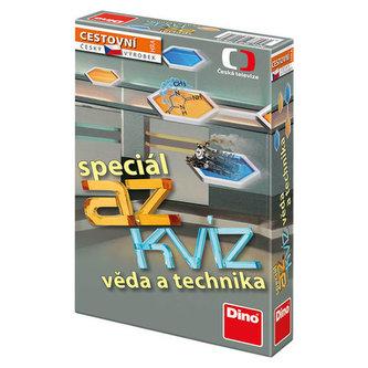 AZ kvíz Věda a technika společenská hra cestovní v krabici 11x18x3,5cm