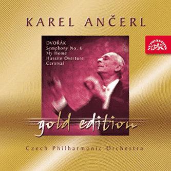 Gold Edition - 19 Dvořák - Symfonie č. 6 D dur, Můj domov, Husitská, Karneval - CD