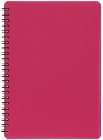 Plastic blok NEON růžový A5, linka, 60 listů