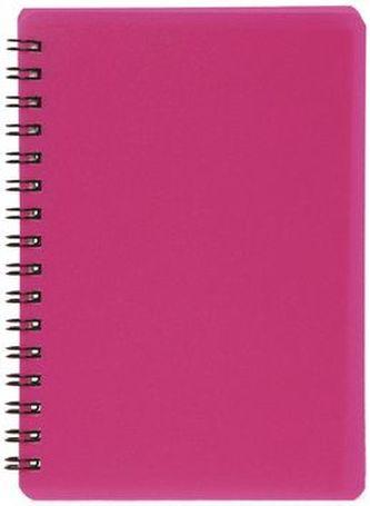Plastic blok NEON růžový A6, linka, 60 listů