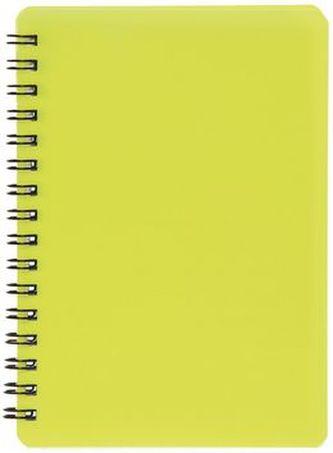 Plastic blok NEON žlutý A6, linka, 60 listů