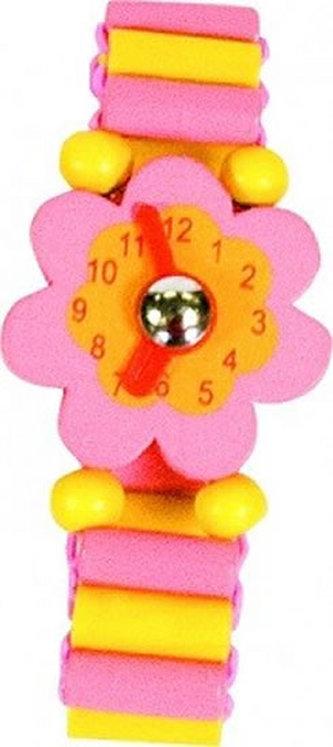 Dřevěné hodinky - Růžové