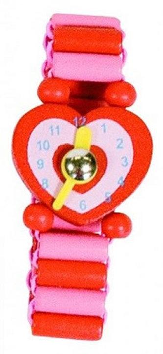 Dřevěné hodinky - Červené