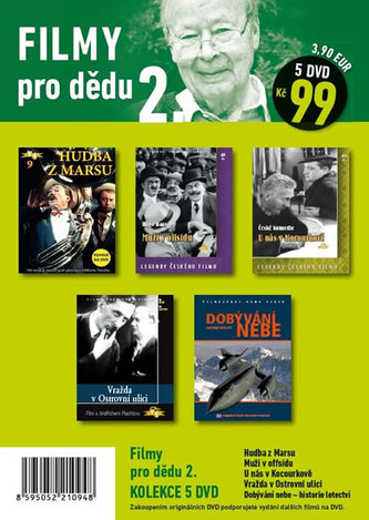 Filmy pro dědu 2. - 5 DVD pošetka - neuveden