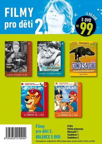 Filmy pro děti 2. - 5 DVD pošetka - neuveden