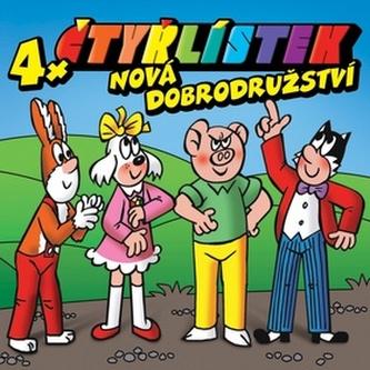 Čtyřlístek Nová dobrodružství 4x - Ivan Trojan; Miroslav Táborský; Ondřej Brzobohatý