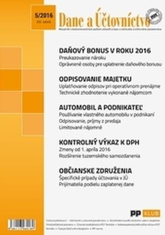 Dane a účtovníctvo 5-2016