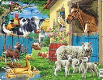 Puzzle MAXI - Zvířata na farmě/25 dílků