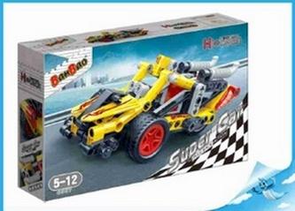 BanBao stavebnice Hi-Tech Super Cars závodní tříkolka