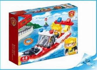 BanBao stavebnice Fire hasičský člun 62ks