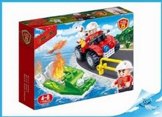 BanBao stavebnice Fire hasičská čtyřkolka s člunem 62ks