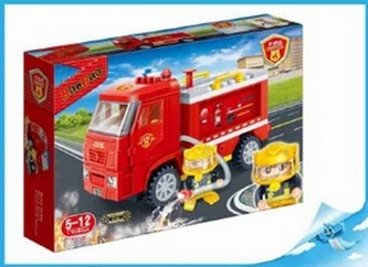 BanBao stavebnice Fire hasičské vozidlo zpětný chod