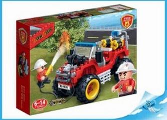 BanBao stavebnice Fire hasičská čtyřkolka zpětný chod