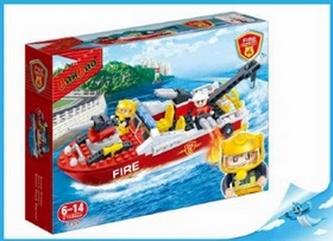 BanBao stavebnice Fire hasičský záchranný člun