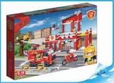 BanBao stavebnice Fire hasičská stanice s rozdělovačem