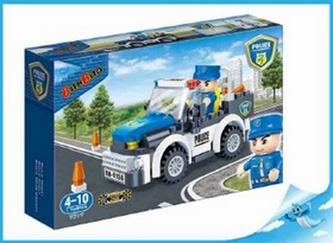 BanBao stavebnice Police policejní auto zpětný chod