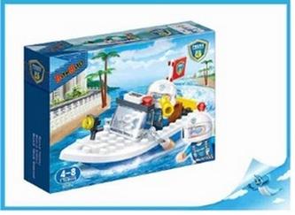 BanBao stavebnice Police policejní člun