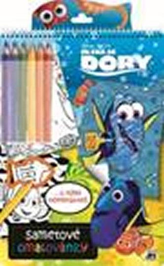 Sametové omalovánky Hledá se Dory