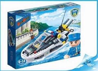 BanBao stavebnice Police policejní člun 225ks