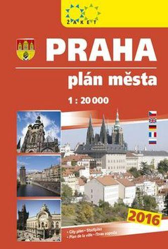 Praha plán města 2016
