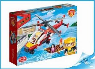 BanBao stavebnice Fire hasičský vrtulník