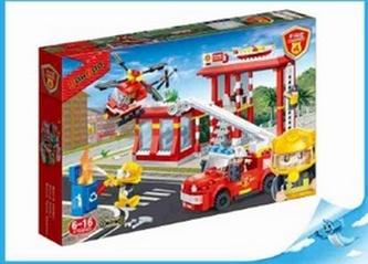 BanBao stavebnice Fire hasičský dispečink + vozidlo