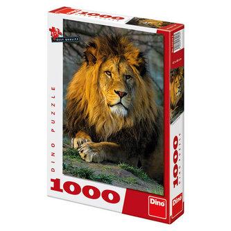 Zamyšlený lev - Puzzle 1000 dílků