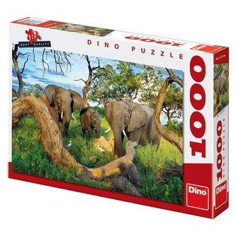 Sloni z Botswany - Puzzle 1000 dílků