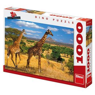 Dvě žirafy - Puzzle 1000 dílků
