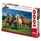 Puzzle Islandští koně 66x47cm 1000dílků v krabici 37x27x5cm