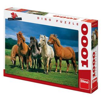 Islandští koně - Puzzle 1000 dílků - neuveden